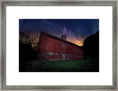Cosmic Barn Framed Print