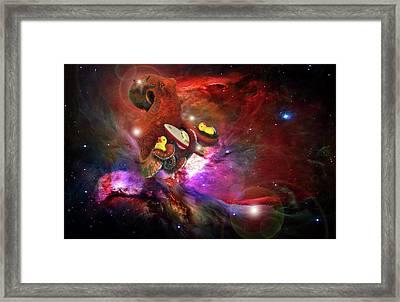 Cosmic Bath Time Framed Print by Leah Marie King