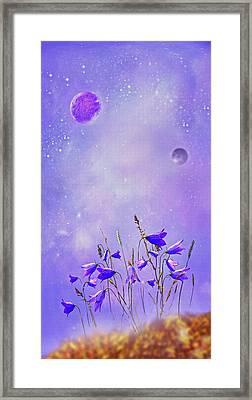 Cosmic Blubells Framed Print