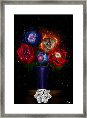 Cosmic Bouquet Framed Print