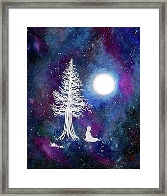 Cosmic Buddha Meditation Framed Print by Laura Iverson
