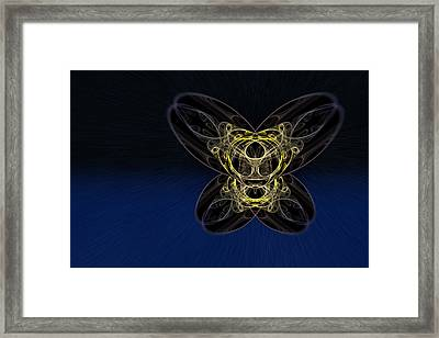 Cosmic Butterfly In Space Zoom Framed Print
