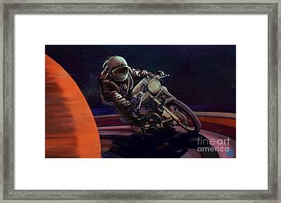 Cosmic Cafe Racer Framed Print
