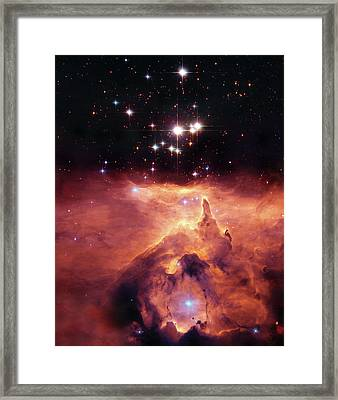 Cosmic Cave Framed Print by Jennifer Rondinelli Reilly - Fine Art Photography