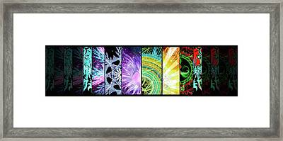 Framed Print featuring the mixed media Cosmic Collage Mosaic by Shawn Dall