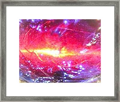 Cosmic Contemporary Design Framed Print by Rebecca Lemke
