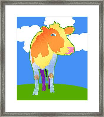 Cosmic Cow Framed Print by Mary Ogle