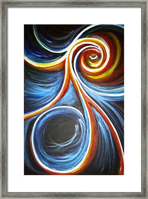 Cosmic Drifter Framed Print by Pedro  Flores