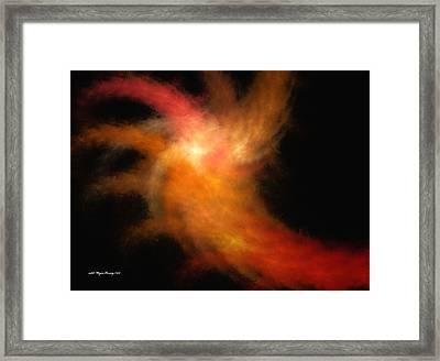 Cosmic Explosion Afterburn Framed Print