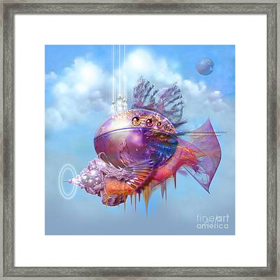 Cosmic Fish Spaceship Framed Print