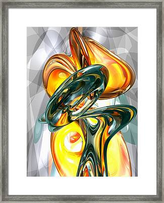 Cosmic Flame Abstract Framed Print by Alexander Butler
