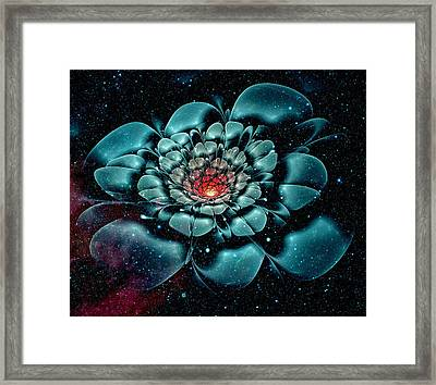 Cosmic Flower Framed Print by Anastasiya Malakhova