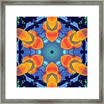 Framed Print featuring the painting Cosmic Fluid by Derek Gedney