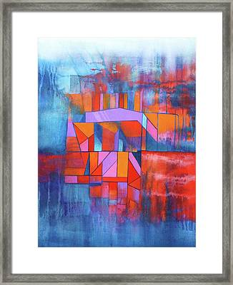 Cosmic Garage Framed Print by J W Kelly