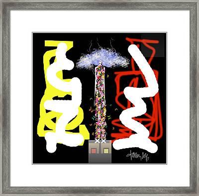 Cosmic Geisha - Angry Mountain Messenger Framed Print