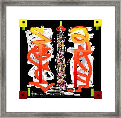 Cosmic Geisha - Dimension Hopping Framed Print
