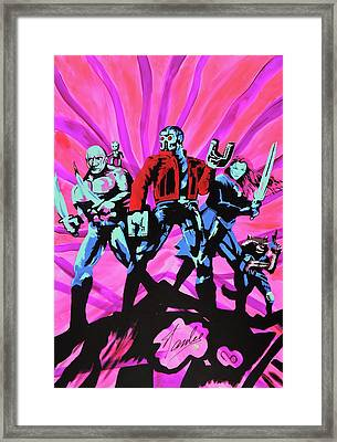 Cosmic Guardians Of The Galaxy 2 Framed Print