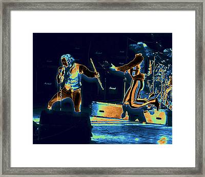 Framed Print featuring the photograph Cosmic Ian And Leaping Martin by Ben Upham