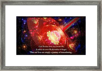 Framed Print featuring the mixed media Cosmic Inspiration God Source 2 by Shawn Dall