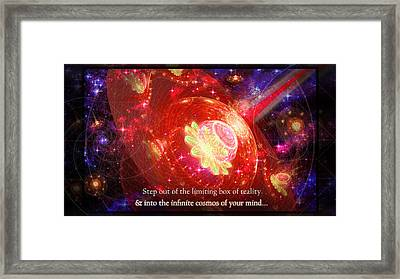 Framed Print featuring the mixed media Cosmic Inspiration God Source by Shawn Dall