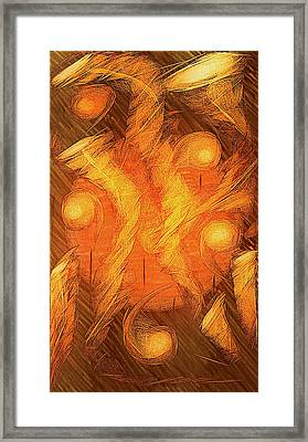 Cosmic Jazz Framed Print by Aurora Art