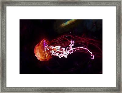 Cosmic Jellyfish Framed Print