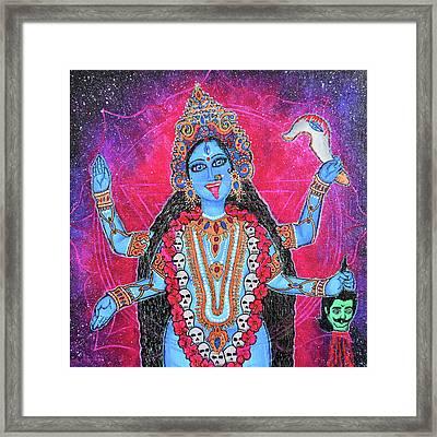 Cosmic Kali Maa - Hindu Goddess Framed Print