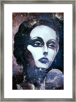 Cosmic Lady Blue Framed Print