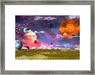 Cosmic Laws Framed Print by By ValxArt