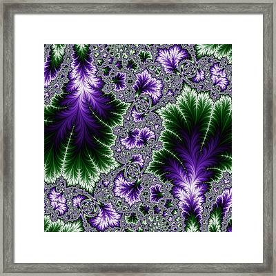 Cosmic Leaves Framed Print