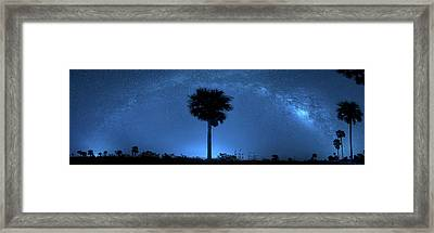 Framed Print featuring the photograph Cosmic Night by Mark Andrew Thomas