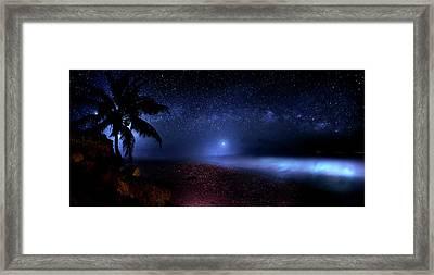 Cosmic Ocean Framed Print by Mark Andrew Thomas