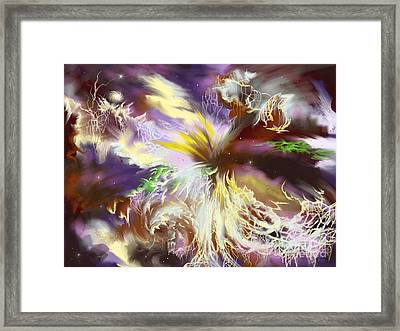 Framed Print featuring the digital art The Flowering Of The Cosmos by Amyla Silverflame