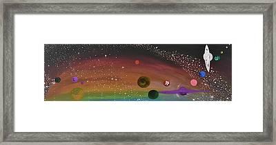 Cosmic Play Framed Print by Susy Guzman