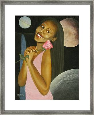 Cosmic Queen Courtney Framed Print by Angelo Thomas