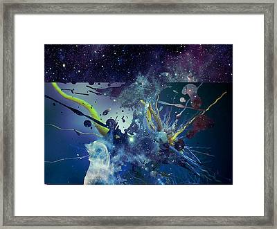 Cosmic Resonance No 1 Framed Print by Robert G Kernodle