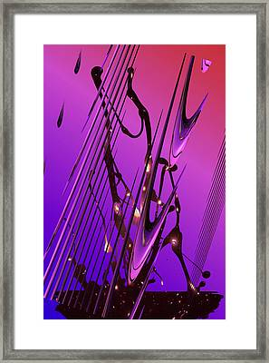 Cosmic Resonance No 6 Framed Print by Robert G Kernodle
