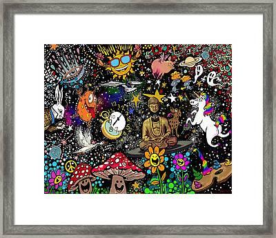 Cosmic Smiles Framed Print