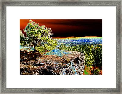Framed Print featuring the photograph Cosmic Spokane Rimrock by Ben Upham III