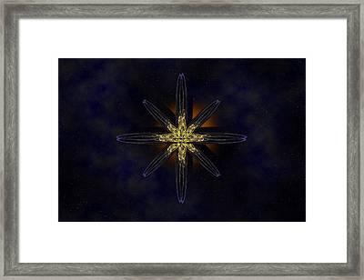 Cosmic Star In A Star Field Framed Print