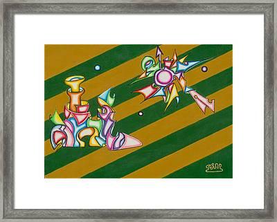 Cosmic Steamship Framed Print by            Gillustrator