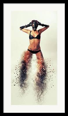 Masked Digital Art Framed Prints