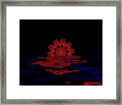 Cosmic Sun Set Framed Print by John Mueller