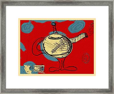 Cosmic Tea Time Framed Print by Jason Nicholas