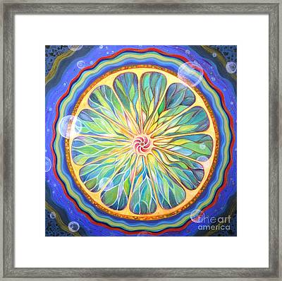 Cosmic Twist Framed Print by Kelly Price