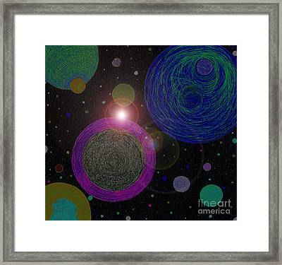 Cosmic Universe Framed Print by Norma Appleton