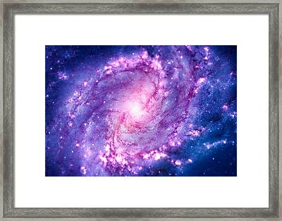 Cosmic Vacuum Cleaner Spiral Galaxy M83 Framed Print by Philipp Rietz