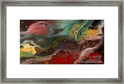Cosmic Vision Framed Print by Anna Folkartanna Maciejewska-Dyba