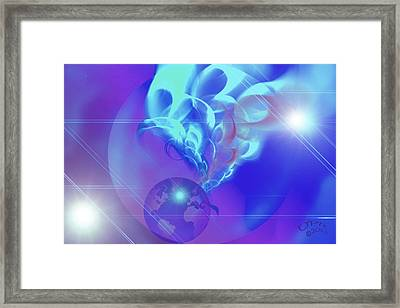 Cosmic Wave Framed Print