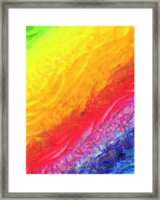 Cosmic Waves - Pa Framed Print